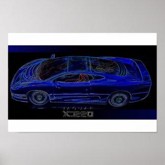 Sportauto Jaguars XJ 220 Poster