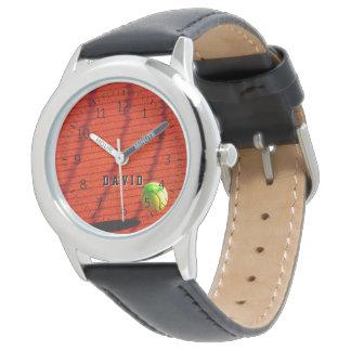 Sportgeschenke der Tennis-Zeit-| Personalizable Uhr