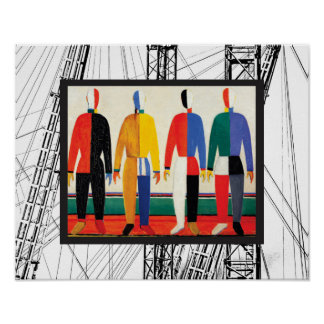 Sportler durch Kazimir Malevich Poster