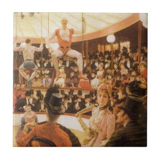 Sportliche Damen (oder Zirkus-Liebhaber) durch Fliese