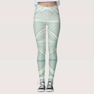 Sportliche gewellte Linien des Blau-| | Stripes u. Leggings