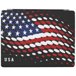 Sportliche Halbtonbild-USA-amerikanische Flagge iPad Hülle