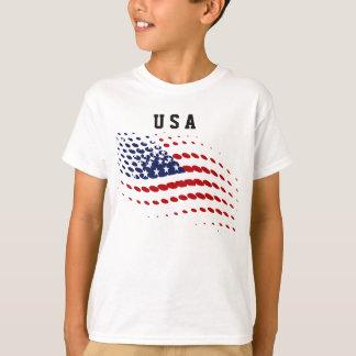 Sportliche Halbtonbild-USA-amerikanische Flagge T-Shirt