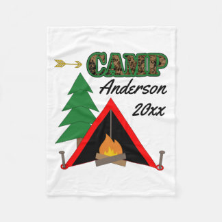 Sportlicher Campings-Lagerfeuer-Zelt-Name Fleecedecke