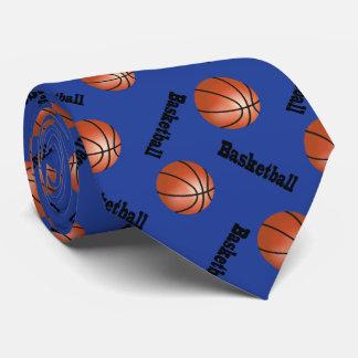 Sportlicher dunkelblauer Basketball des Personalisierte Krawatten