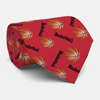 Sportlicher dunkelroter Basketball des Krawatten