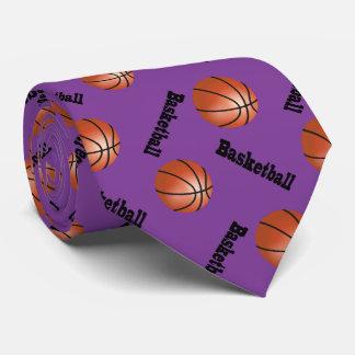 Sportlicher lila Basketball des Hintergrund-| Bedruckte Krawatte