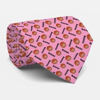Sportlicher rosa Basketball des Hintergrund-  Individuelle Krawatte