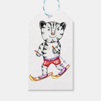 Sportlicher weißer Tiger Geschenkanhänger