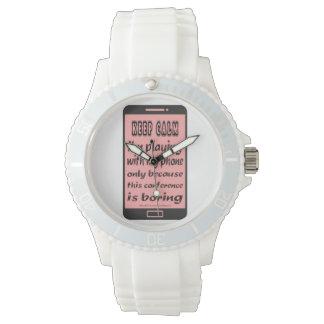 Sportliches Silikon-Uhr-Rosa behalten ruhiges Armbanduhr