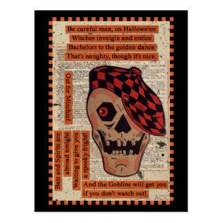 Sportliches Skelett Postkarte