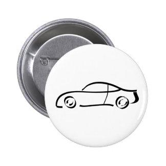 sports car anstecknadelbutton