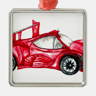 Sportwagen-Skizze Silbernes Ornament