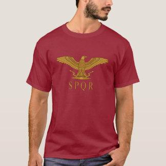 SPQR Adler-Golddunkelheits-T - Shirt