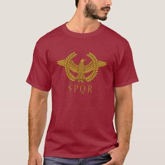 SPQR Adler-Lorbeer-Golddunkelheits-T - Shirt