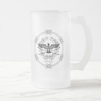 SPQR der römisches Reich-Emblem-mattierte Mattglas Bierglas