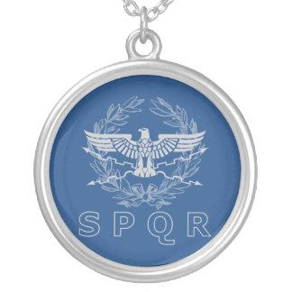 SPQR die römisches Reich-Emblem-Halskette Versilberte Kette