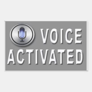 Sprachaktivierter Streich-Aufkleber (4 Satz) Rechteckiger Aufkleber