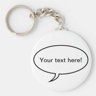 Sprache-Blase Schlüsselanhänger