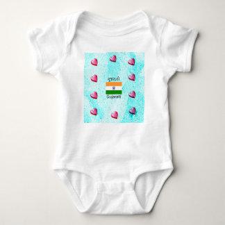 Sprache des Gujarati-(Indien) und Flaggen-Entwurf Baby Strampler