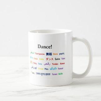 Sprache des Tanzes!  Wörter für Tanz weltweit Kaffeetasse