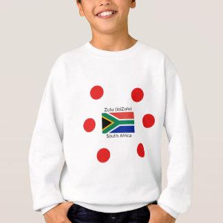 Sprache des Zulu-(isiZulu) und Südafrika-Flagge Sweatshirt