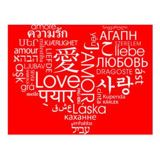 Sprachen des Liebe-Herzens Postkarte