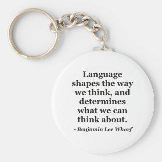 Sprachformen denken Zitat Schlüsselanhänger