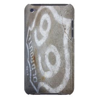 Spray des Weg-66 gemalt auf Straße, Alanreed, Texa iPod Touch Etuis
