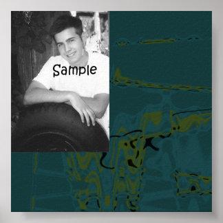 Spray-Farben-Abschluss-Autogramms-Plakat Poster
