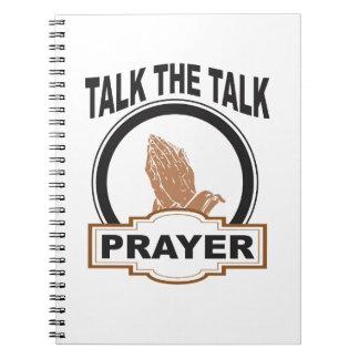 sprechen Sie das Gesprächsgebet ja Spiral Notizblock