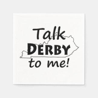 Sprechen Sie Derby mit mir | Derby Papierserviette