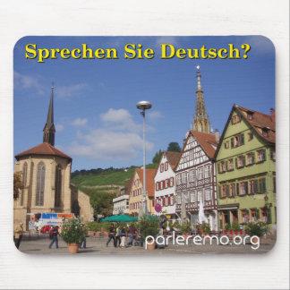 Sprechen Sie Deutsch Esslingen morgens Neckar Mousepad