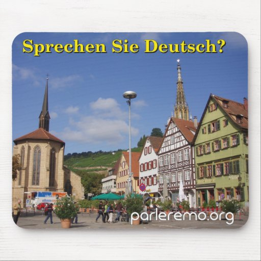 Sprechen Sie Deutsch? Esslingen morgens Neckar, Mousepad
