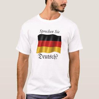 """""""Sprechen Sie Deutsch"""" grundlegender T - Shirt"""