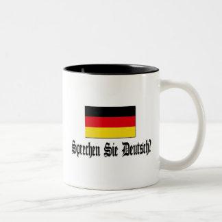 Sprechen Sie Deutsch? Zweifarbige Tasse