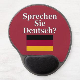 Sprechen Sie Deutsches? auf Deutsch. Flagge Gel Mouse Pads