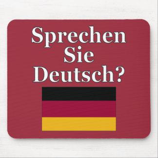 Sprechen Sie Deutsches? auf Deutsch. Flagge Mauspads