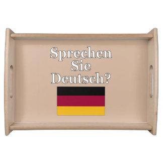 Sprechen Sie Deutsches? auf Deutsch. Flagge Serviertabletts
