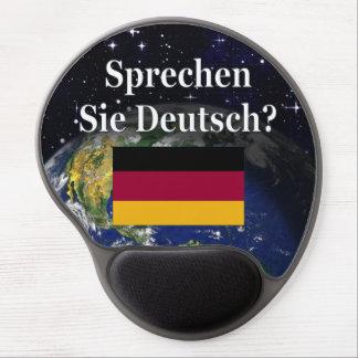 Sprechen Sie Deutsches? auf Deutsch. Flagge u. Gel Mouse Matte
