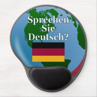 Sprechen Sie Deutsches? auf Deutsch. Flagge u. Gel Mouse Pad