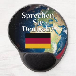Sprechen Sie Deutsches? auf Deutsch. Flagge u. Gel Mousepad