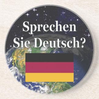 Sprechen Sie Deutsches? auf Deutsch. Flagge u. Getränkeuntersetzer
