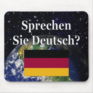 Sprechen Sie Deutsches? auf Deutsch. Flagge u. Mousepad