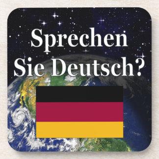 Sprechen Sie Deutsches? auf Deutsch. Flagge u. Untersetzer