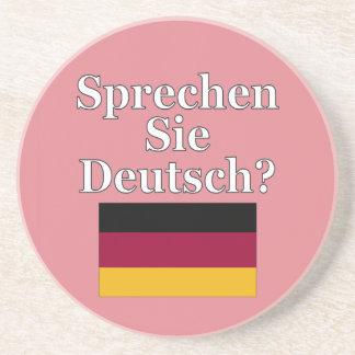 Sprechen Sie Deutsches? auf Deutsch. Flagge Untersetzer
