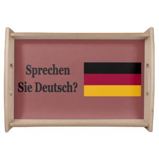 Sprechen Sie Deutsches? auf Deutsch. Flaggen-BF Serviertablett