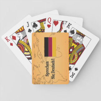 Sprechen Sie Deutsches? auf Deutsch. Flaggen-BF Spielkarte