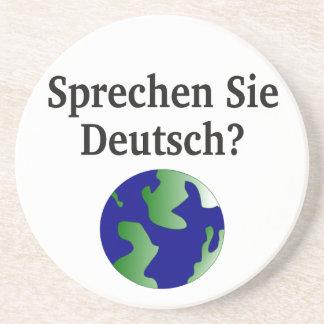 Sprechen Sie Deutsches? auf Deutsch. Mit Kugel Untersetzer