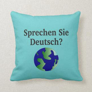 Sprechen Sie Deutsches? auf Deutsch. Mit Kugel Zierkissen